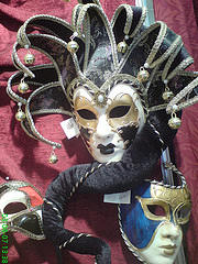 Image of three venetian masks