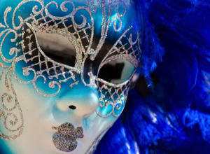 Image of blue venetian mask